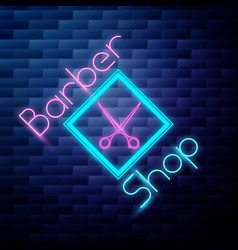 vintage barbershop emblem vector image