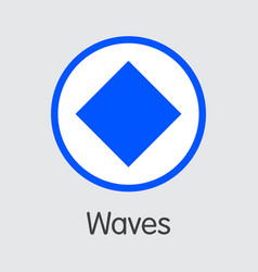 waves - waves the crypto coins or cryptocurrency vector image