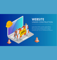 website under construction page background vector image