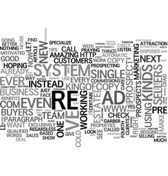 What s in it for your prospects text word cloud vector