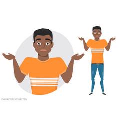 young black african american men doubt no ideas vector image