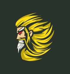 Zeus head logo vector