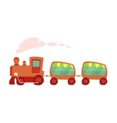 cartoon of amusement park train ride vector image