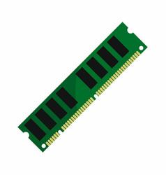 flat hardware ram icon for repair service design vector image