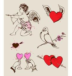 Hand drawn Valentines element vector image
