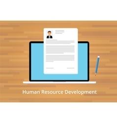 hr human resource development vector image vector image