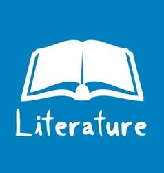 literature icon vector image vector image