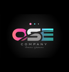 ose o s e three letter logo icon design vector image
