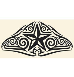 star tattoo design vector image vector image