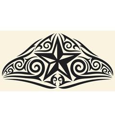 star tattoo design vector image vector image