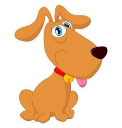 Cartoon cute dog sitting vector image vector image
