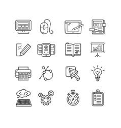 Design web site development theme icon set vector image