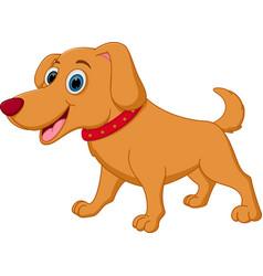 happy dog cartoon vector image