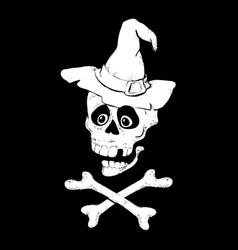 skull with bones sign vector image vector image