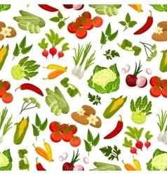 Farm fresh vegetables seamless pattern vector image vector image