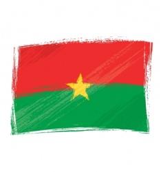 grunge Burkina Faso flag vector image