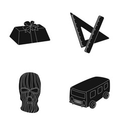 service transport and other web icon in black vector image vector image