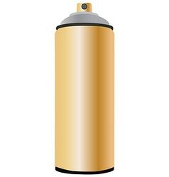 Spray bottle gold vector image