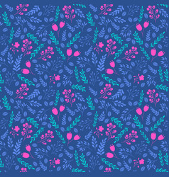 vibrant colors seamless pattern with flowers vector image vector image