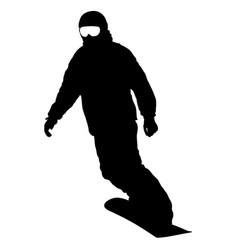 black silhouettes snowboarders on white background vector image vector image