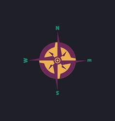 Compass computer symbol vector image vector image