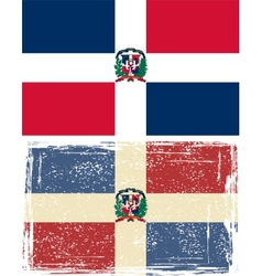 Dominican Republic grunge flag Grunge effect can vector image vector image