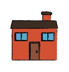 Drawing home family chimney vector