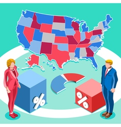 Election Infographic Us President Isometric People vector image vector image