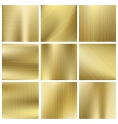 Gold texture set shiny golden yellow vector image vector image