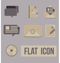 set icons modes of message Flat vector image vector image