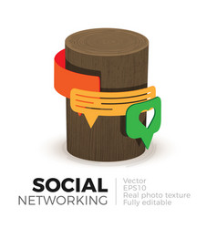 social networks vector image vector image