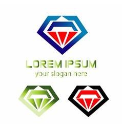 Abstract logo diamond icon vector image
