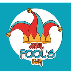 April fools day design vector image vector image
