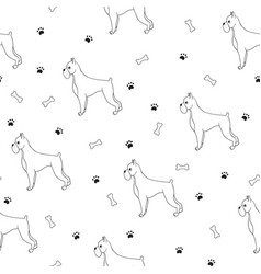 Awesome seamless pattern with cartoon cute vector