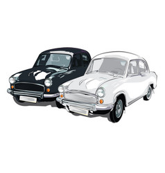 Black and white colour ambassador car vector