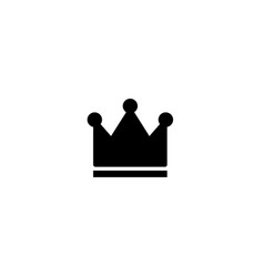 Black crowns on white background vector