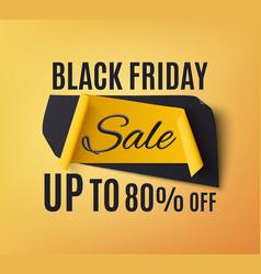 black friday sale banner on orange background vector image