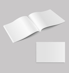 blank open magazine mock up vector image