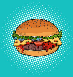 Burger fast food restaurant vector