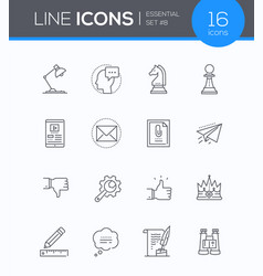 Business concepts - modern line design style icons vector