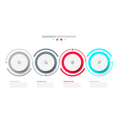 business infographic template with 4 options vector image