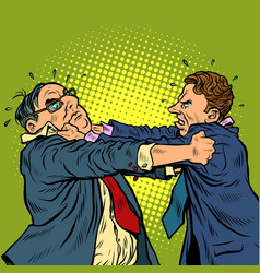 Businessmen fighting conflict competition vector