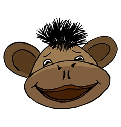 Cartoon style monkey head vector