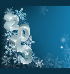 christmas 2013 snowflakes background vector image