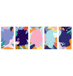 collection abstract background designs - summer vector image