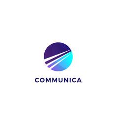 communication company business logo design vector image