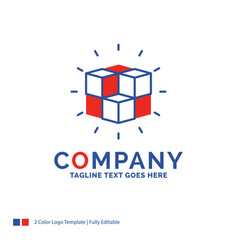 Company name logo design for box labyrinth puzzle vector