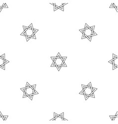 David star pattern seamless vector