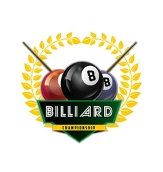 Design Billiards pool and snooker sport vector