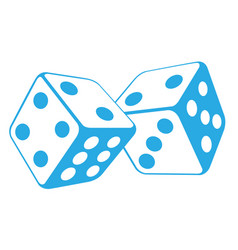 Dice - two gambling cubes casino roulette concept vector